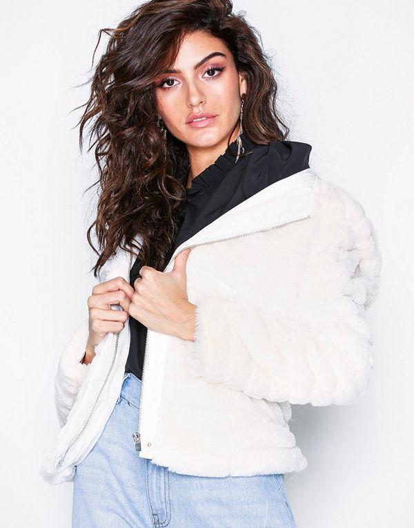 Vila Vimaya Faux Fur Jacket/1 Vit