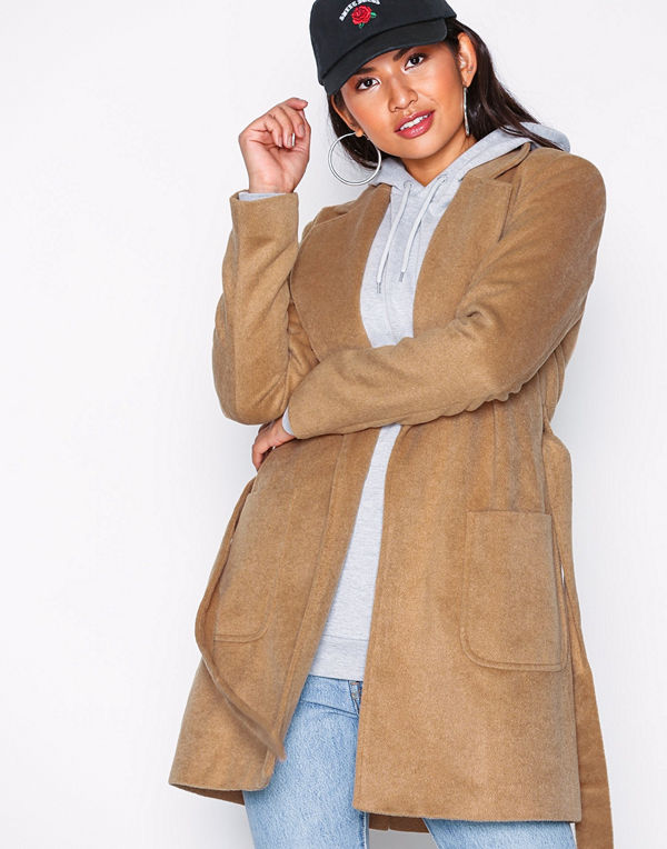 Pieces Pcdebby Belt Trenchcoat Bf Ljus Brun