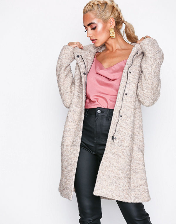 Only onlSEDONA Boucle Wool Coat Otw Ljus Brun