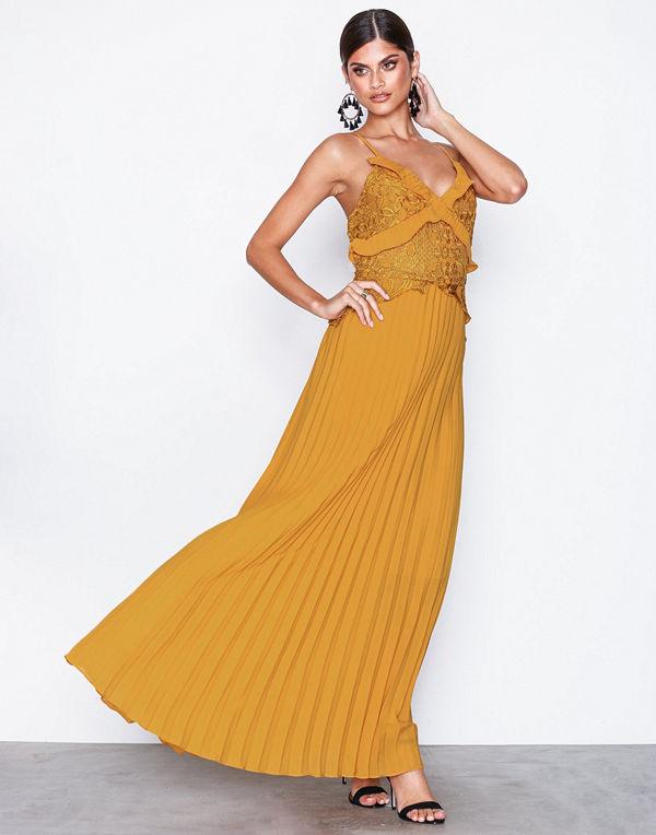 True Decadence Lace Top Frill Maxi Dress