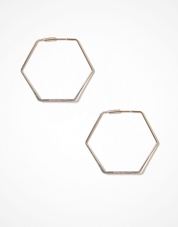 NLY Accessories örhängen Hexagon Hoops