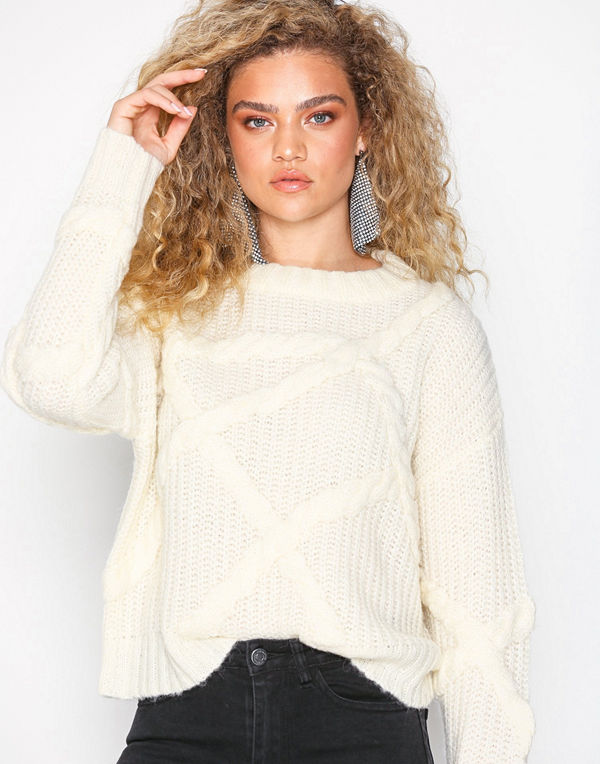 Selected Femme Slfgina Ls Knit O-Neck W