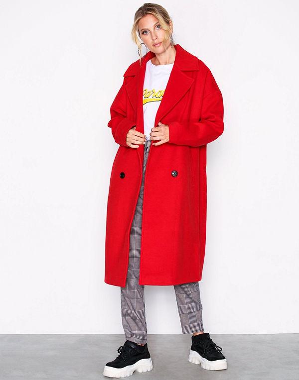 Vero Moda Vmmonday Cala Long Jacket Ki Mörk Röd