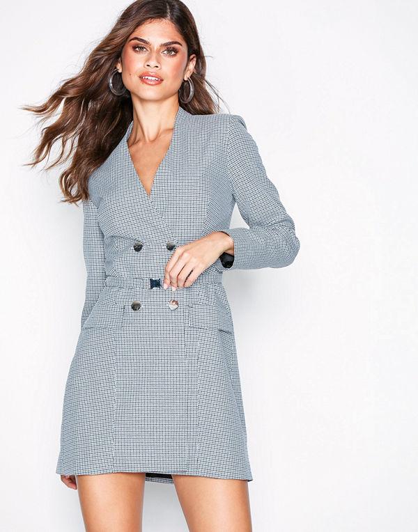 Missguided Check Double Blazer Dress - Klänningar online - Modegallerian e38b9cdc15fc6