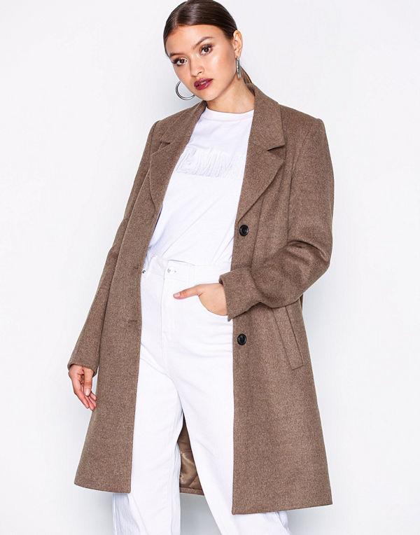 Selected Femme Slfsasja Wool Coat Noos B Brun
