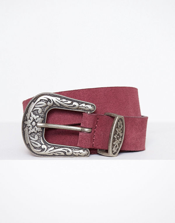Vero Moda Vmpernille Suede Slim Jeans Belt Mörk Lila