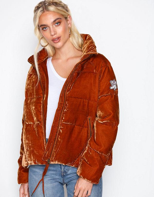 Odd Molly röd bomberjacka embrace velvet jacket Rust