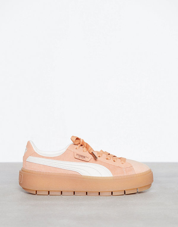Puma Pltaform Trace Corduroy Peach