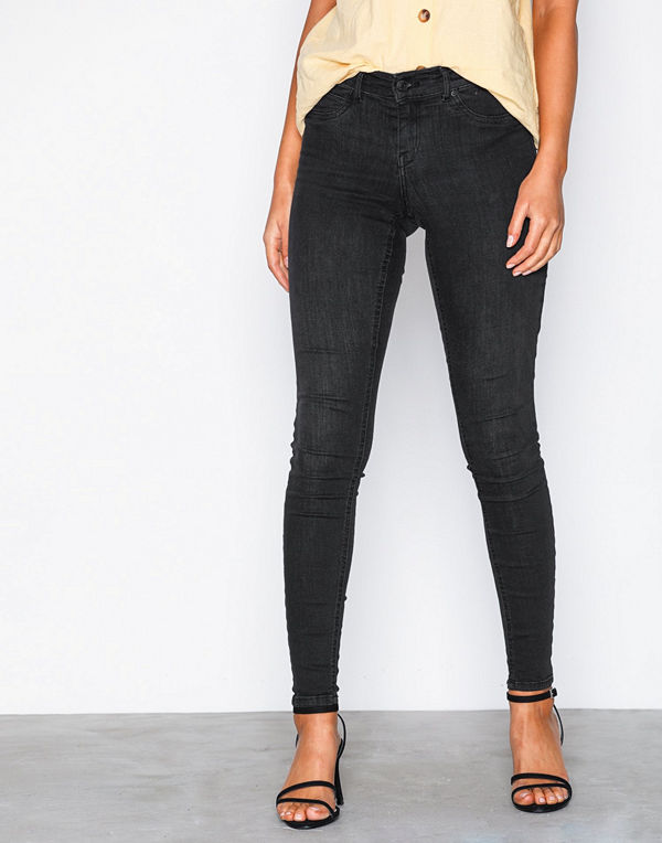 Gina Tricot Skinny low waist superstretch jeans Dark Blue