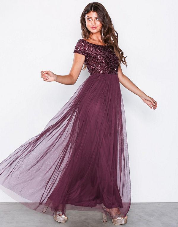 Maya Bardot Embellished Maxi Dress