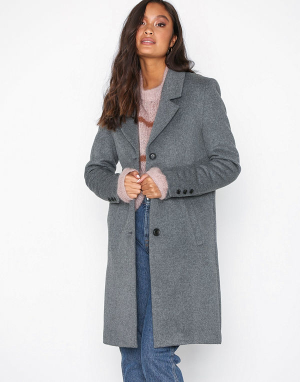 Selected Femme Slfsasja Wool Coat Noos B Grå