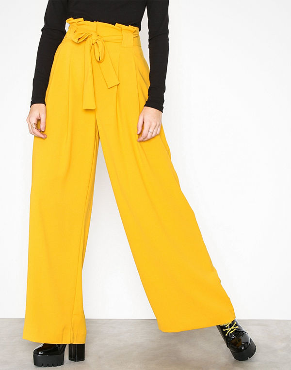 River Island gula byxor Wide Leg Trousers