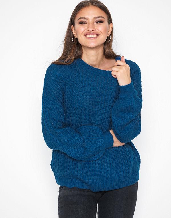 Jacqueline de Yong Jdyhanni L/S Pullover Knt Mörk Blå