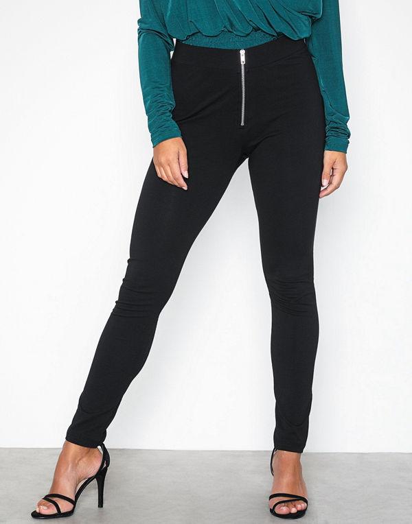 NLY Trend Zipper Leggings Svart