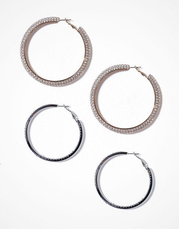 Glamorous örhängen Multipack Hoop Earrings Multi
