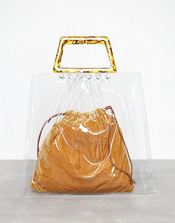 Topshop Porto Tote Bag Clear