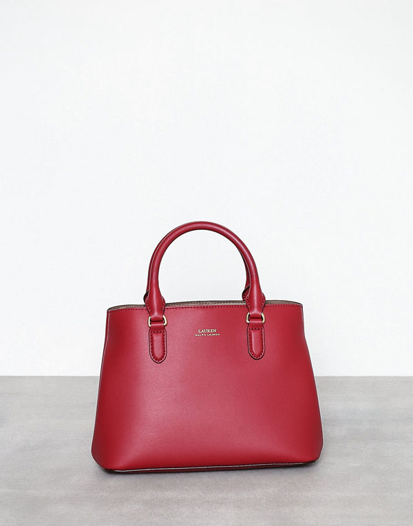 Lauren Ralph Lauren Marcy Satchel Mini Crimson