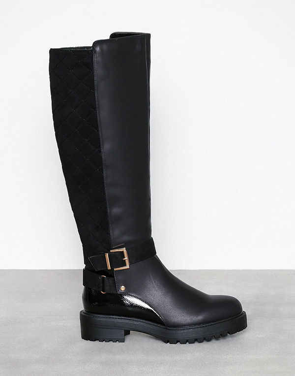 River Island Quilted Back Buckle Boot
