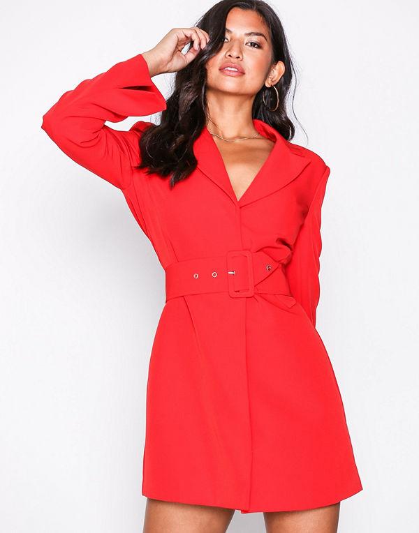 NLY Trend Sharp Suit Dress Röd