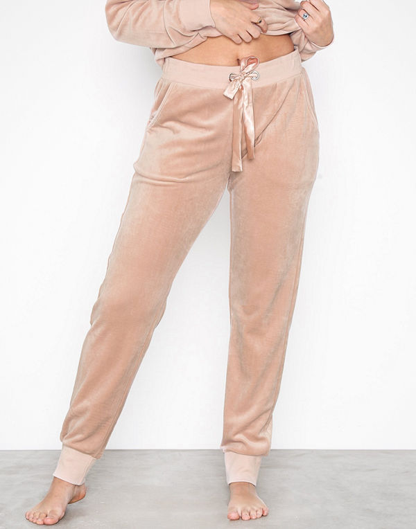 Hunkemöller Velour Pockets Pant Rose Smoke