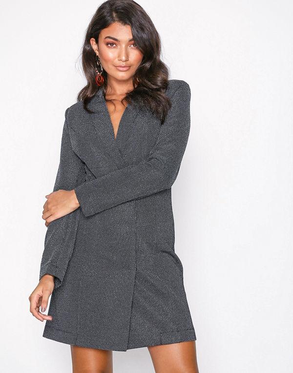 Vero Moda Vmglitter Ls Short Dress Ki Svart