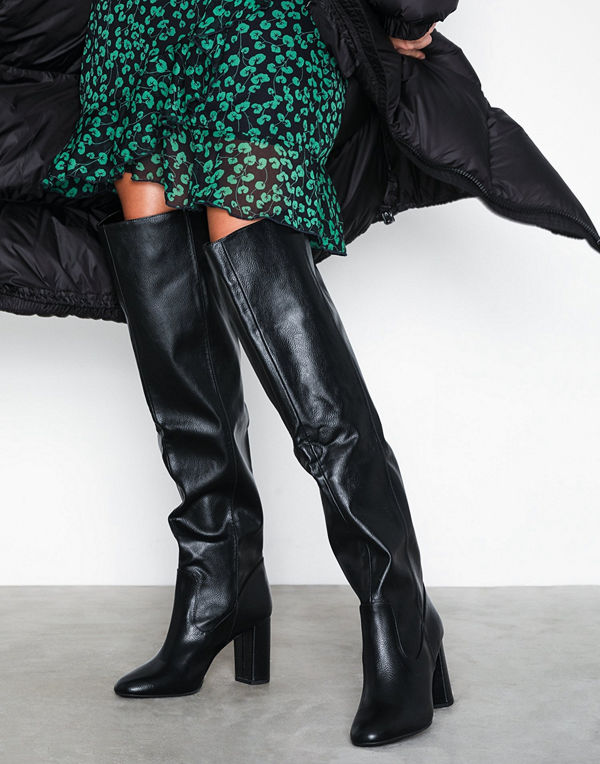 New Look Slouch Thigh Length Heeled Boots