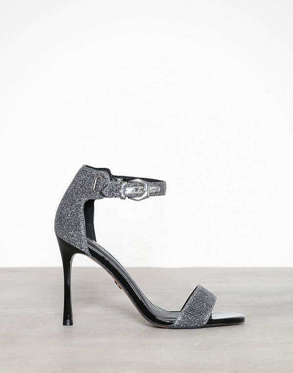 River Island Tear Barely There Sandal Silver