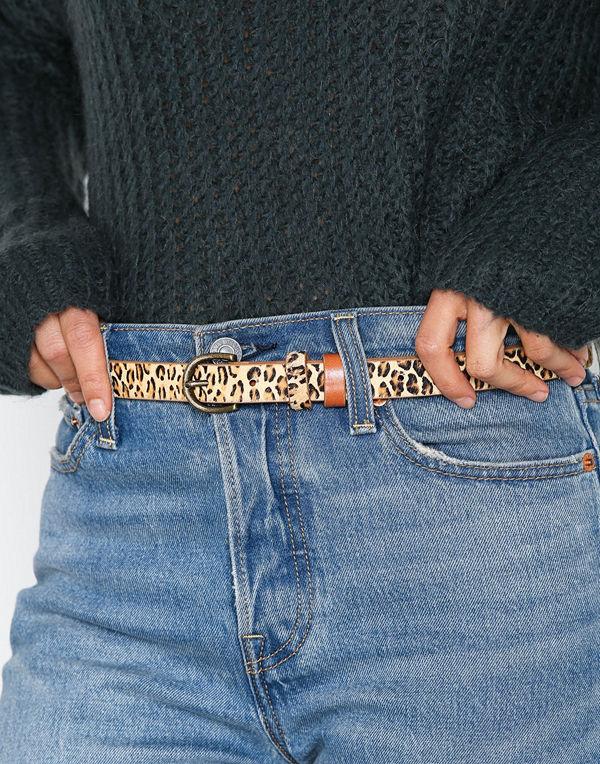 Pieces Pclana Leather Jeans Belt Ljus Brun
