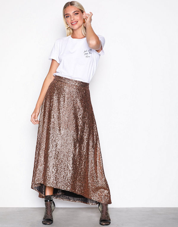 Gestuz Tito skirt Copper