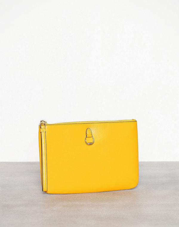 Lauren Ralph Lauren gul kuvertväska Pouch Wristlet Large Yellow