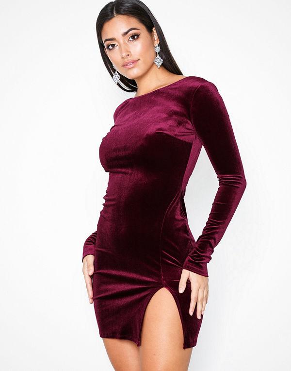 NLY One Split Velvet Dress