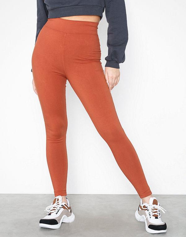 Missguided Cotton Full Length Legging Rust