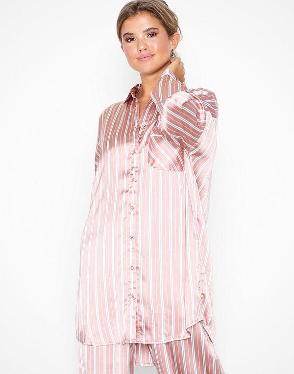 Topshop Blush Striped Shirt