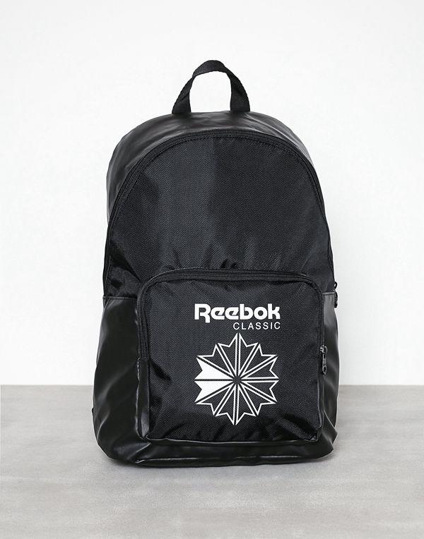 Reebok Classics svart ryggsäck med tryck CL Core Backpack