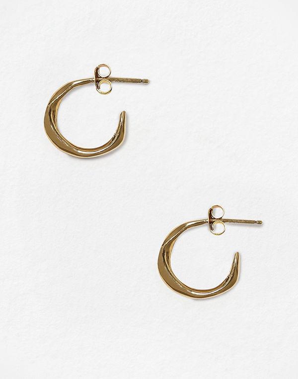 Cornelia Webb svart smycke MOLDED ORGANIC HOOP EARRING S -PAIR