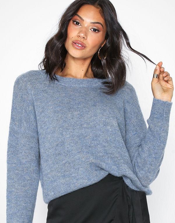MOSS Copenhagen Femme Mohair O Pullover Blue