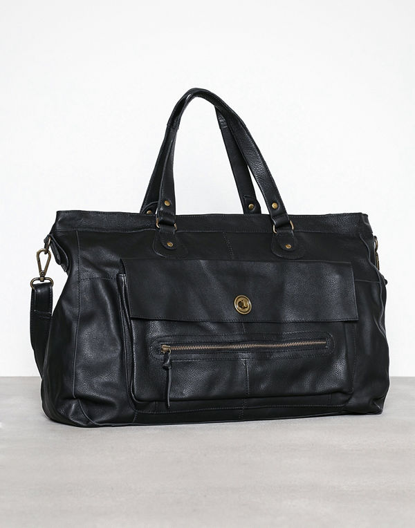 Pieces Pctotally Royal Leather Travel Bag Svart