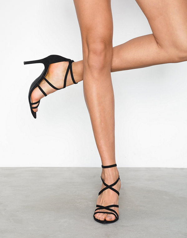 NLY Shoes Open Pointy Toe Heel Svart