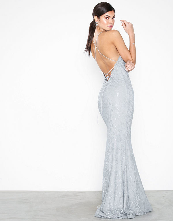 NLY Eve Lace Strappy Mermaid Gown