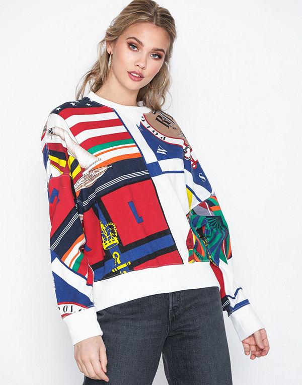 Polo Ralph Lauren Print Cn-Long Sleeve-Knit