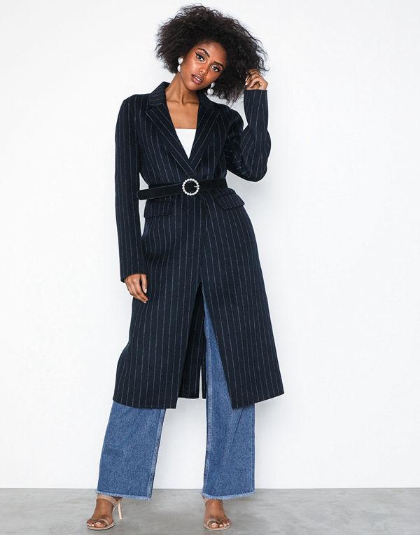Selected Femme Slflisa Handmade Coat Pin Stripe B