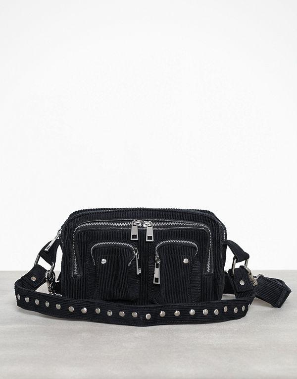 NuNoo svart väska Ellie corduroy
