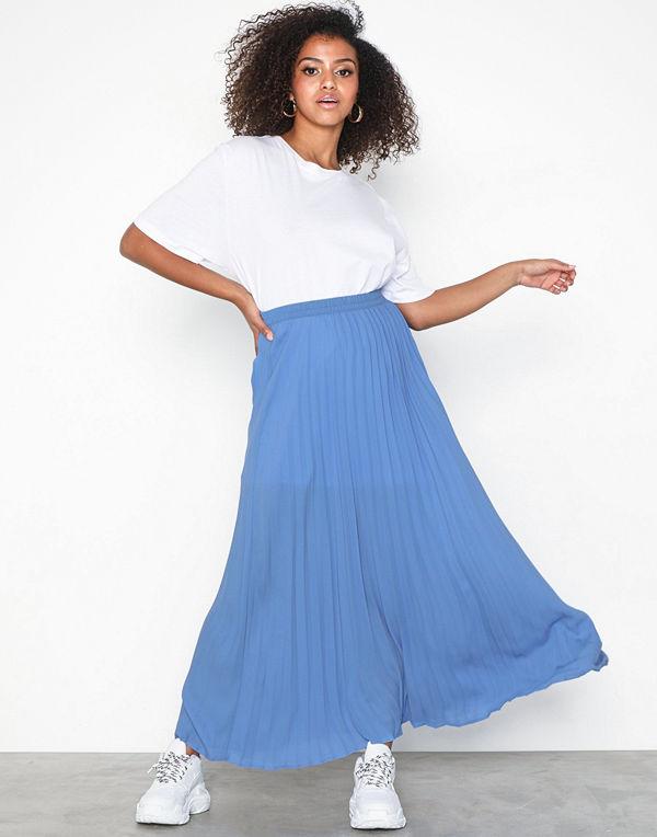 Only onlPHOEBE Long Plisse Skirt Wvn