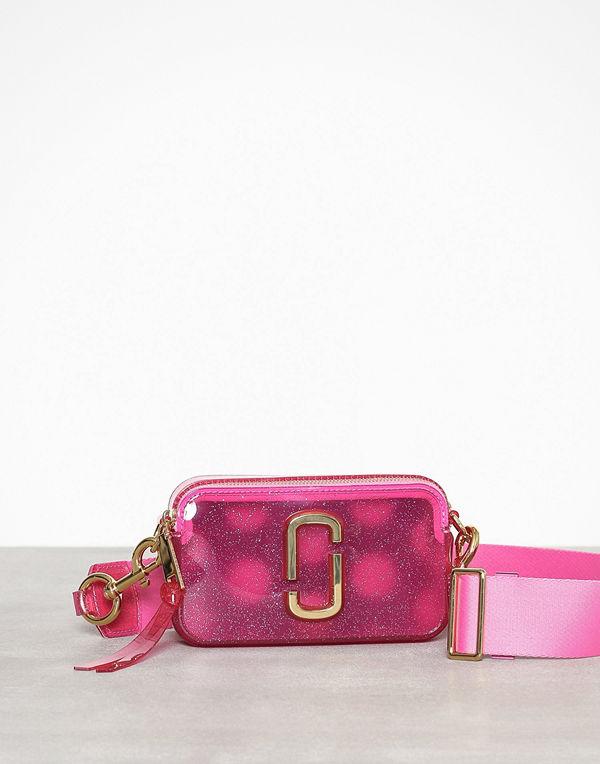 Marc Jacobs rosa axelväska The Jelly Glitter Snapsho