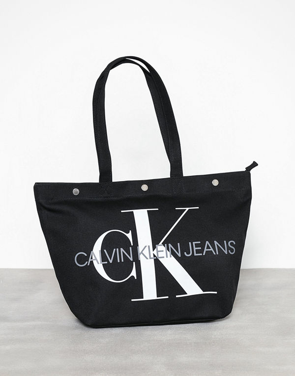 Calvin Klein Canvas Utility Ew Bottom Tote M