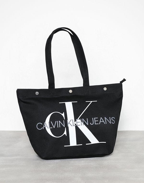 Calvin Klein Canvas Utility Ew Bottom Tote M