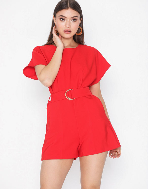 Closet Short Sleeve Belted Playsuit
