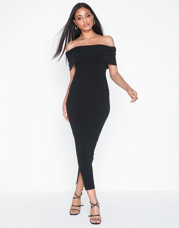 NLY One Off Shoulder Midi Dress