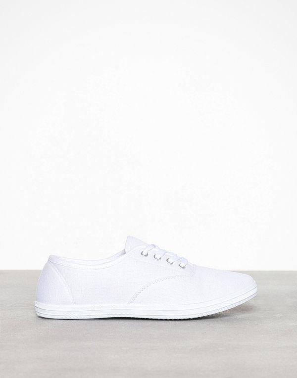 Duffy Basic Canvas Sneaker Vit