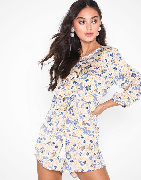 Glamorous Long Sleeve Floral Playsuit